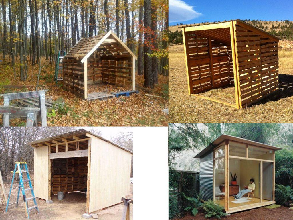 Ideas para la decoraci n de jardines con palets - Casas para perros con palets ...