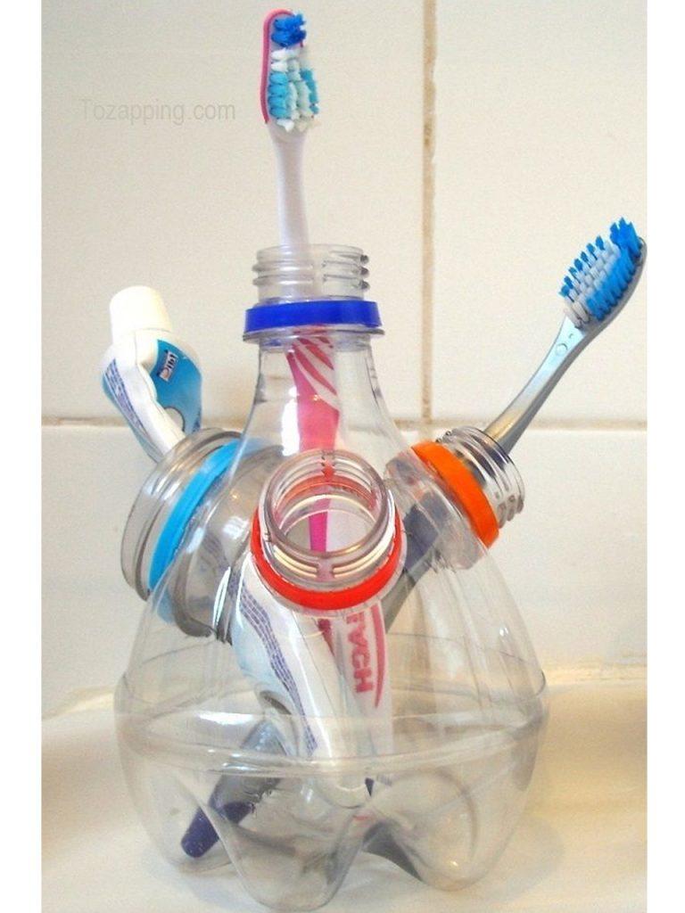 recipiente de plástico para cepillo de dientes