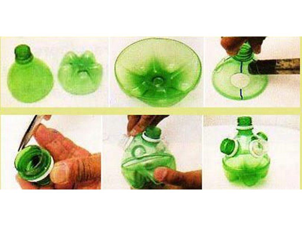 como hacer un recipiente de plástico para cepillos de dientes