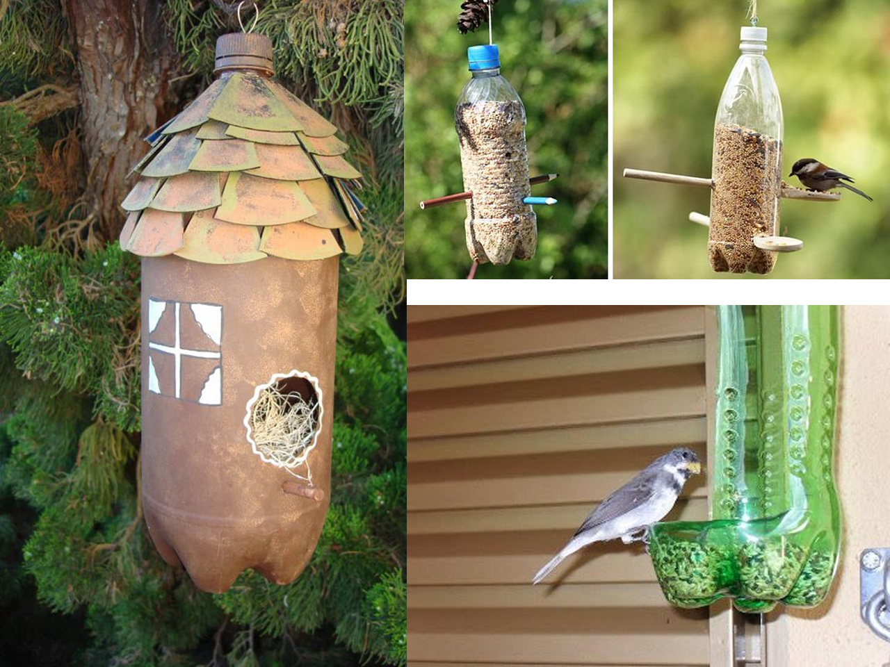70 ideas de reciclaje con botellas de pl stico for Casas para jardin de plastico