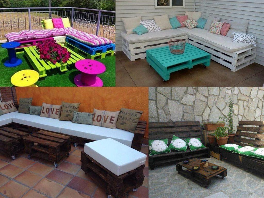 Ideas para la decoraci n de jardines con palets - Como hacer muebles de jardin con palets ...