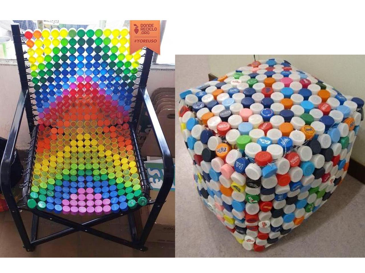 12 ideas para la decoraci n con tapones de pl stico - Tapizado de sillas paso a paso ...