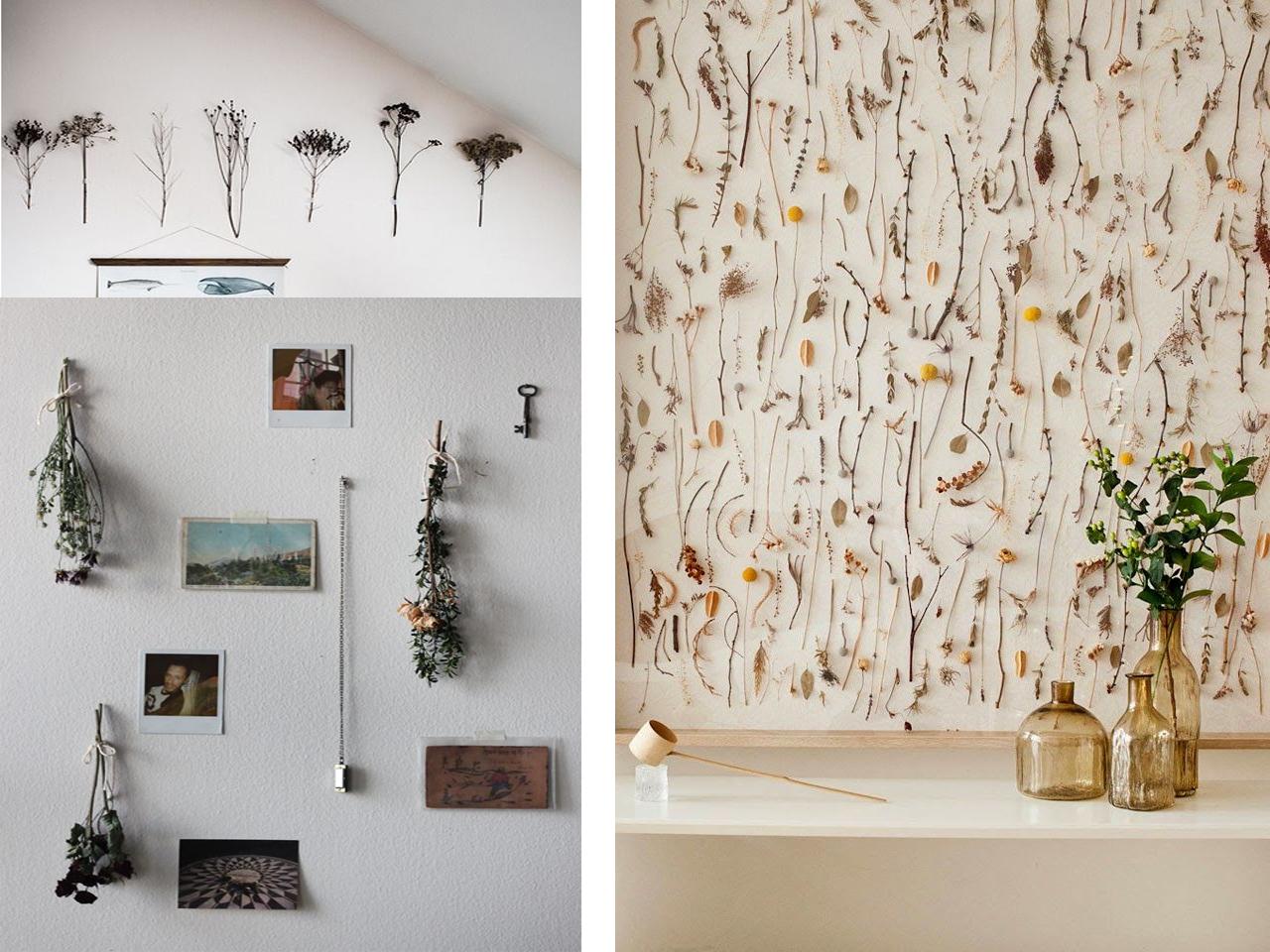 9 ideas de decoraci n con flores secas for Decoracion con hojas secas