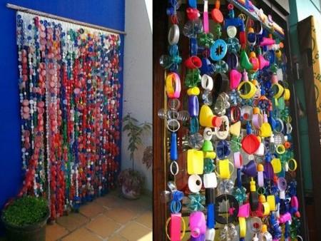 cortinas con tapones de plástico