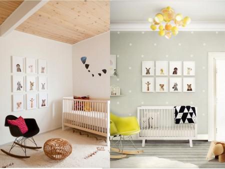 7 tips para aprender c mo decorar una habitaci n de beb for Corredor deco blanco y gris