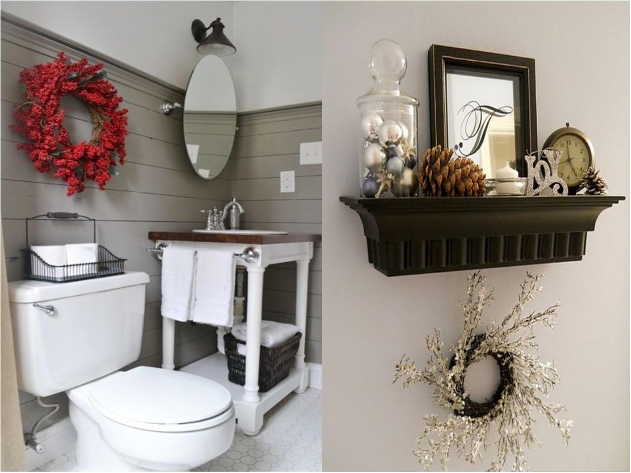 Decoracion Baños Corona:La decoración navideña para baños también existe