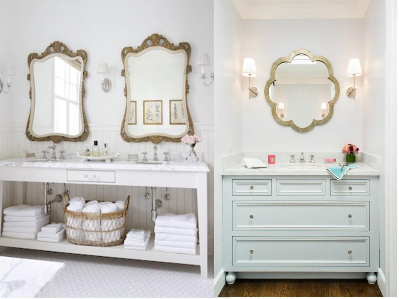 Ap ntate a la preciosa decoraci n de ba os vintage - Decoracion de espejos de bano ...
