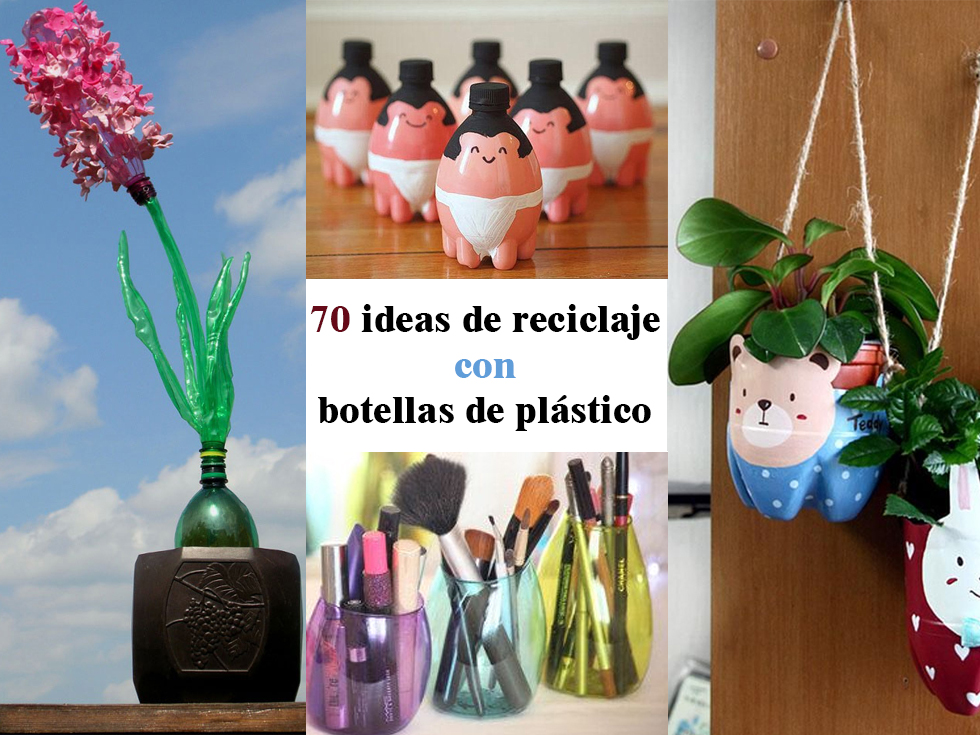 70 ideas de reciclaje con botellas de pl stico for Ideas decoracion reciclaje