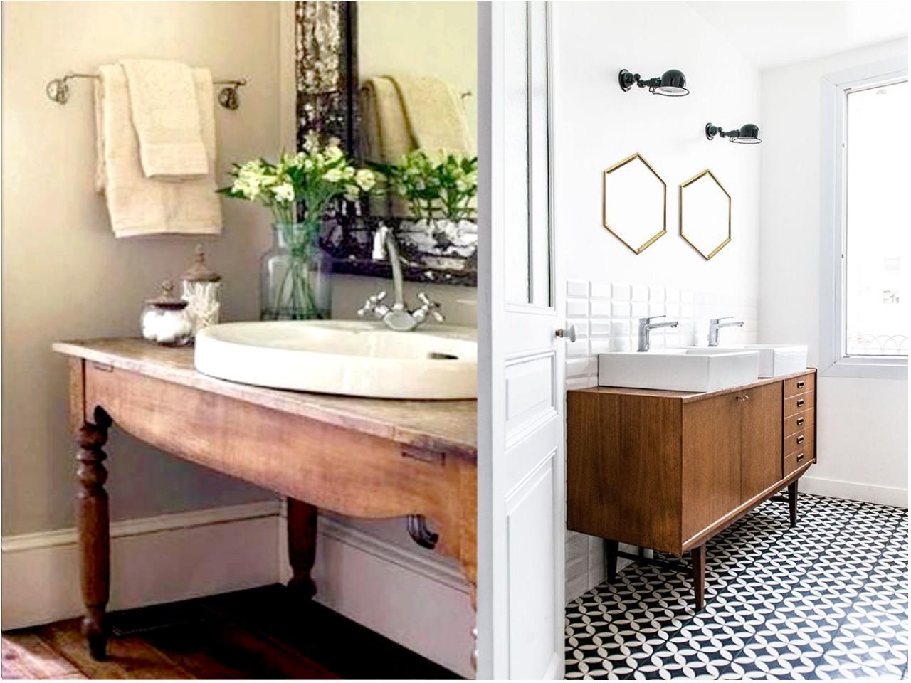 Ap ntate a la decoraci n de ba os vintage for Muebles de cuarto de bano grandes