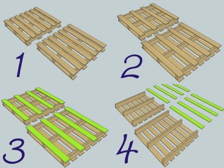 decoración con palets estantería paso 3 y 4