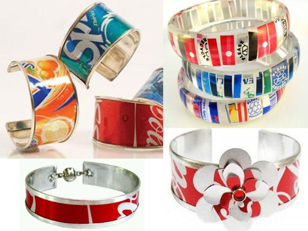 hacer brazaletes con latas de refresco