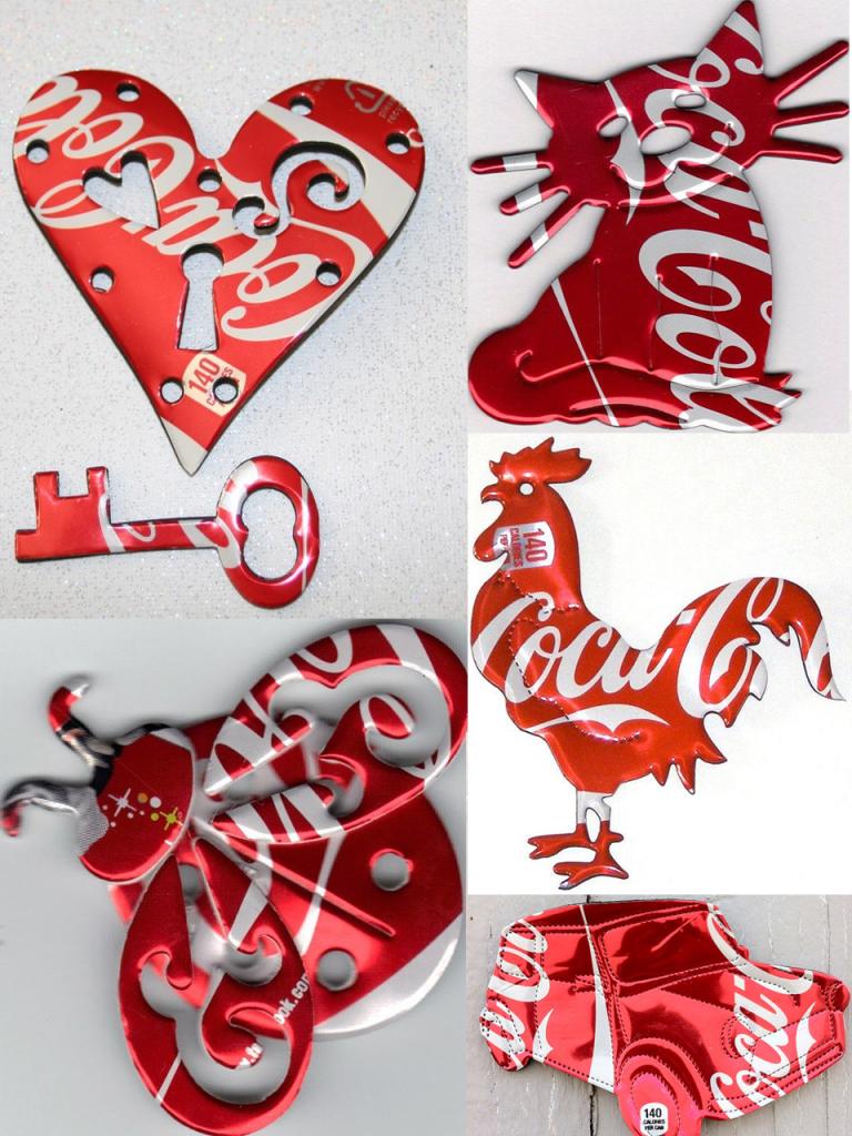 manualidades con latas de Coca-Cola imanes