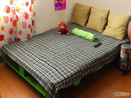 decoración con palets cama paso 5 colchón