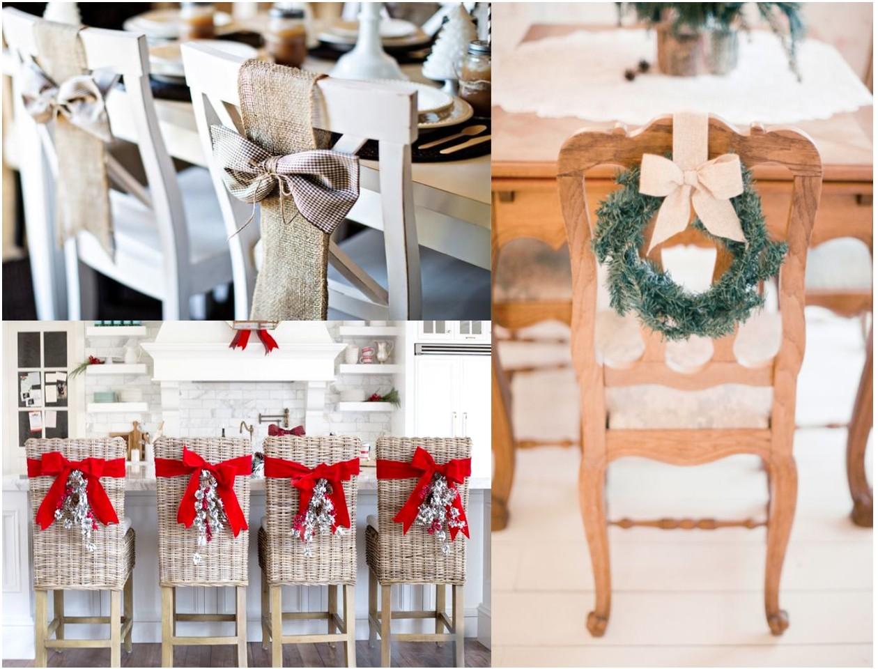 9 sillas decoradas de navidad que te inspirar n for Sillas decoracion