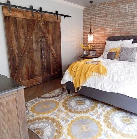 Dormitorios estilo industrial en 7 sencillos pasos for Puertas correderas estilo granero