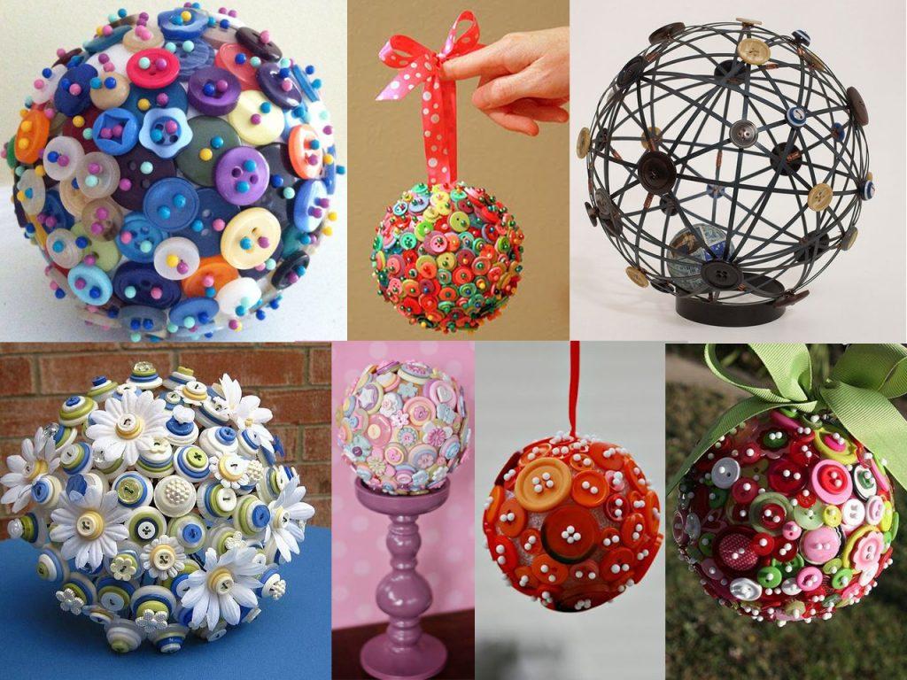 hacer esculturas con botones