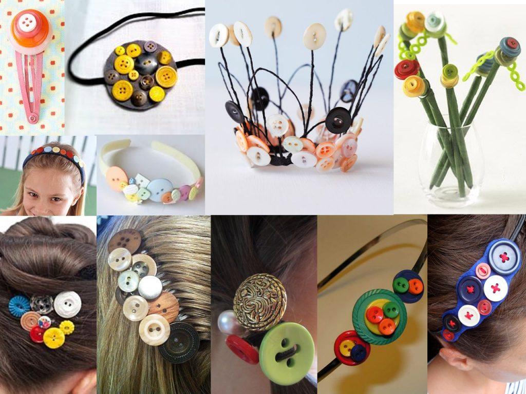 accesorios con botones de colores