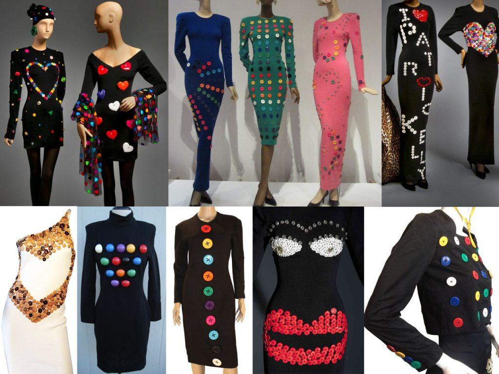 vestidos con botones de colores