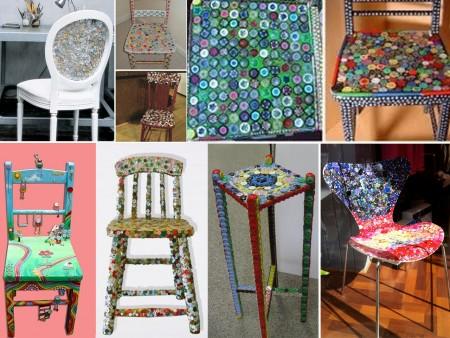 decoración de sillas con botones