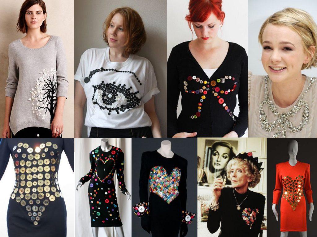 camisetas con botones de colores