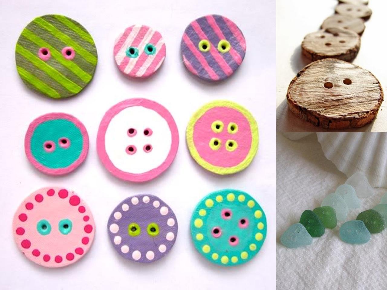 M s de 150 manualidades con botones de colores - Manualidades con lanas de colores ...