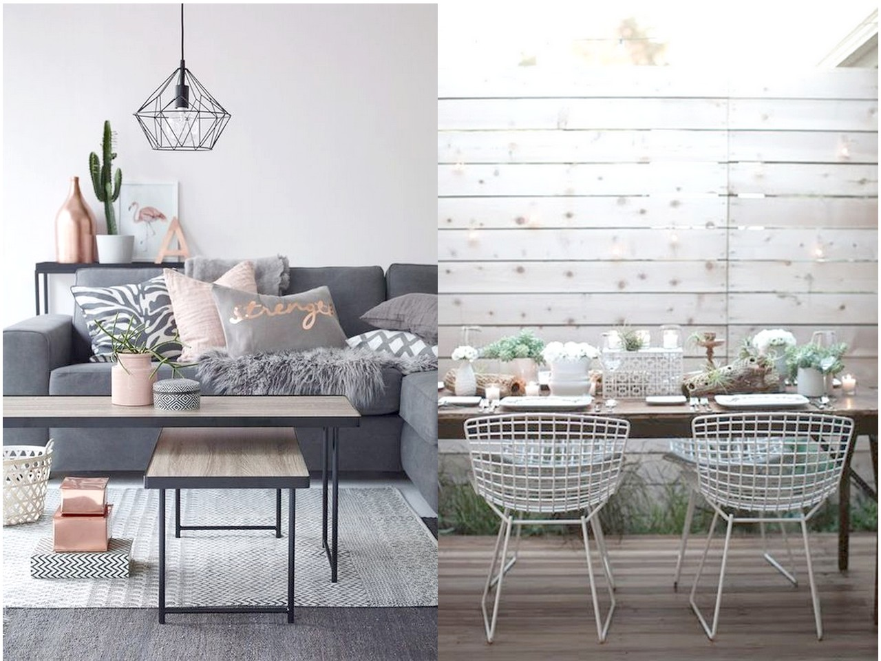 Tendencias 2016 2017 decorar con metal - Decoracion para salones de casa ...