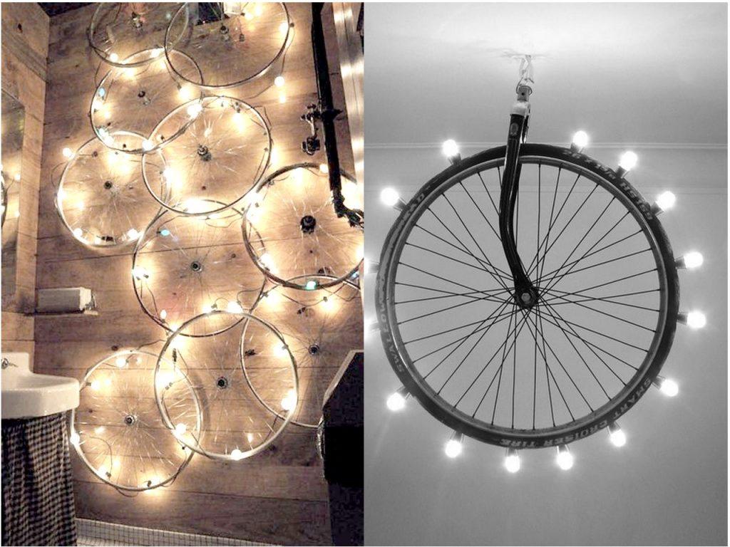 7 originales ideas para reciclar bicicletas - Apliques de pared originales ...