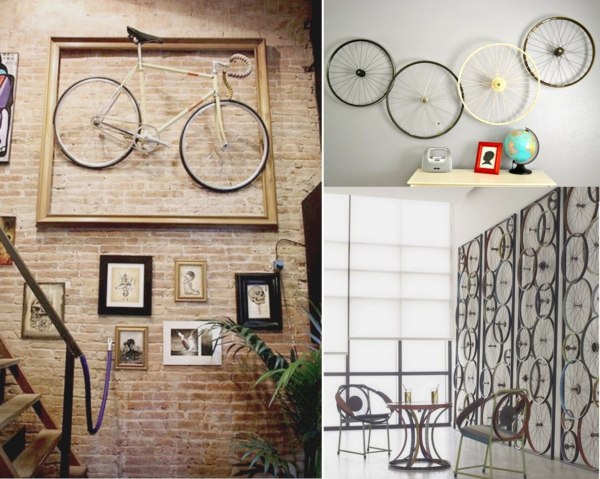 7 originales ideas para reciclar bicicletas - Decorar una pared ...