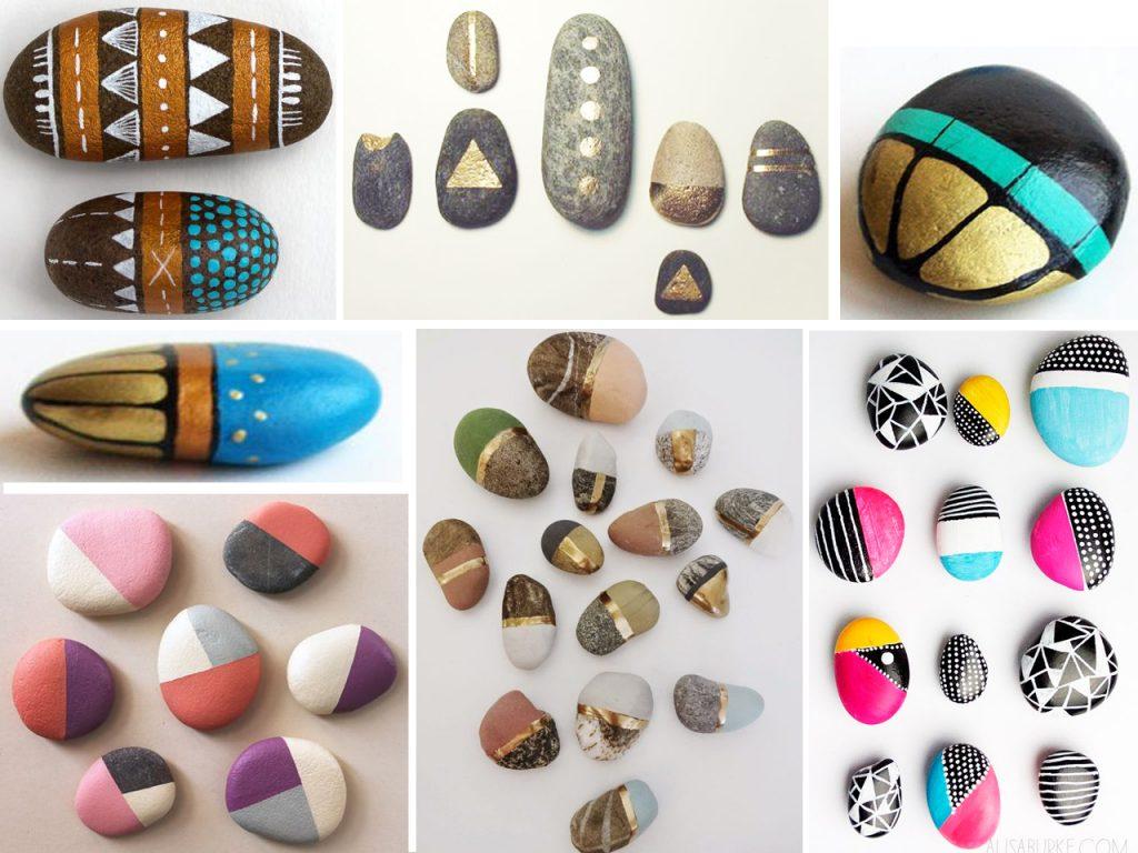 Las m s incre bles manualidades con piedras pintadas - Decorar piedras de rio ...