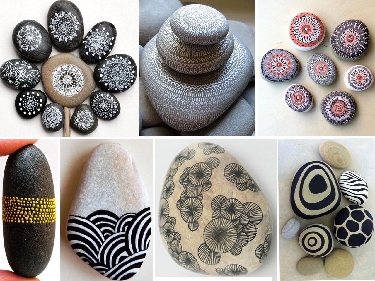 Las m s incre bles manualidades con piedras pintadas - Decorar con piedra ...