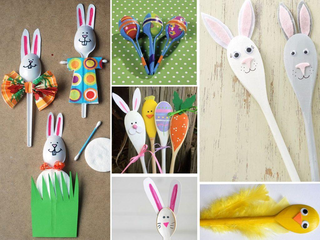 manualidades con cucharas de plástico