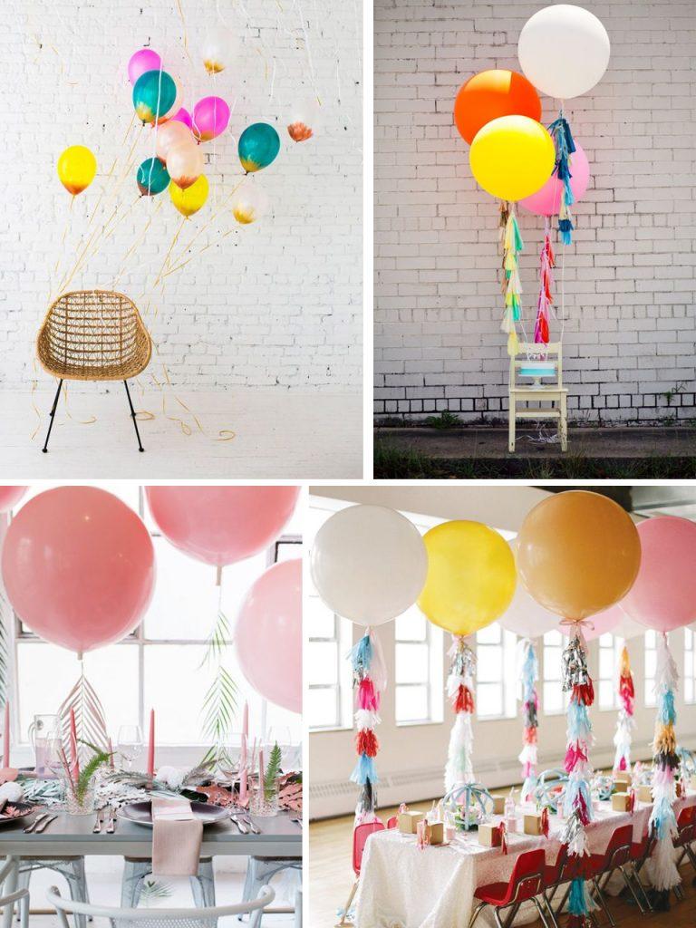 decorar sillas con globos