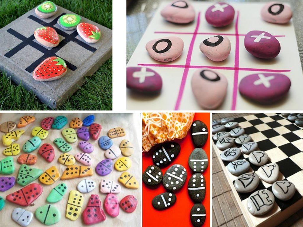 hacer juegos con piedras