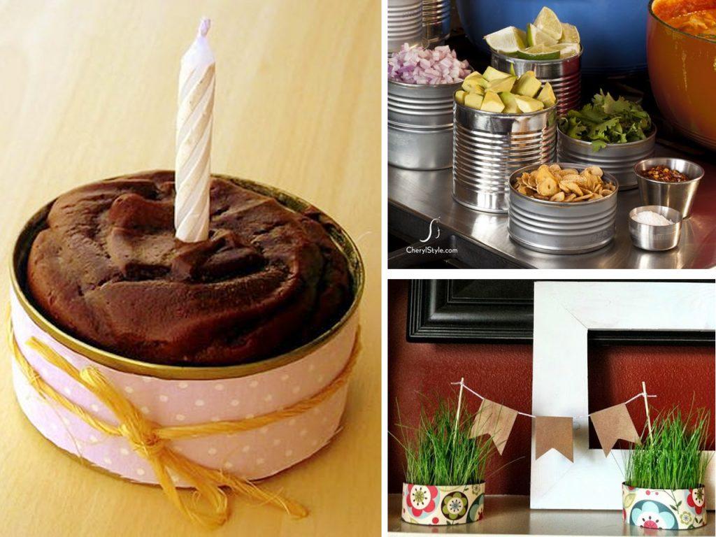 manualidades para cumpleaños con latas de atún