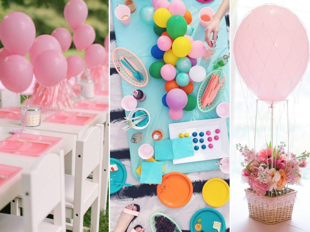 decorar con globos una mesa