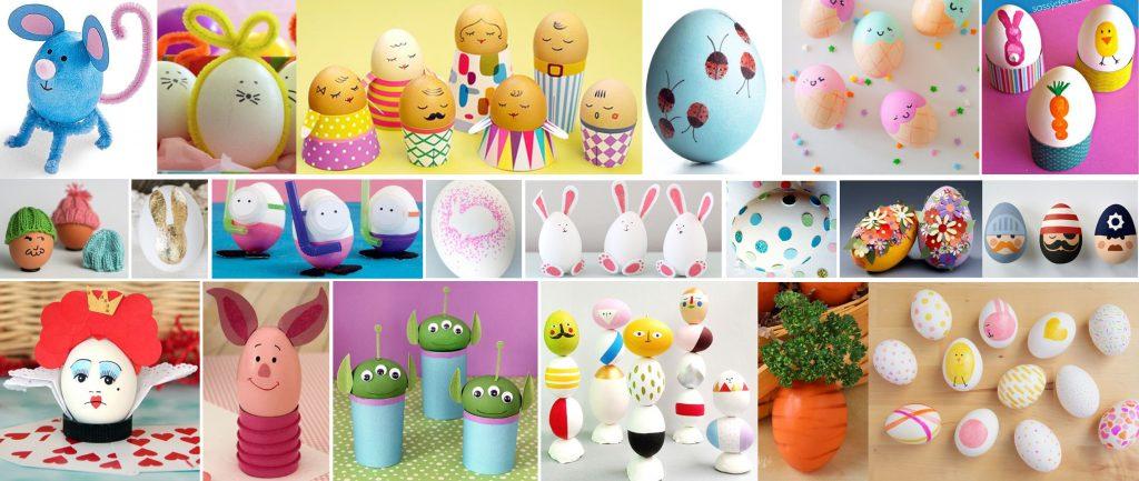 manualidades con huevos de pascua