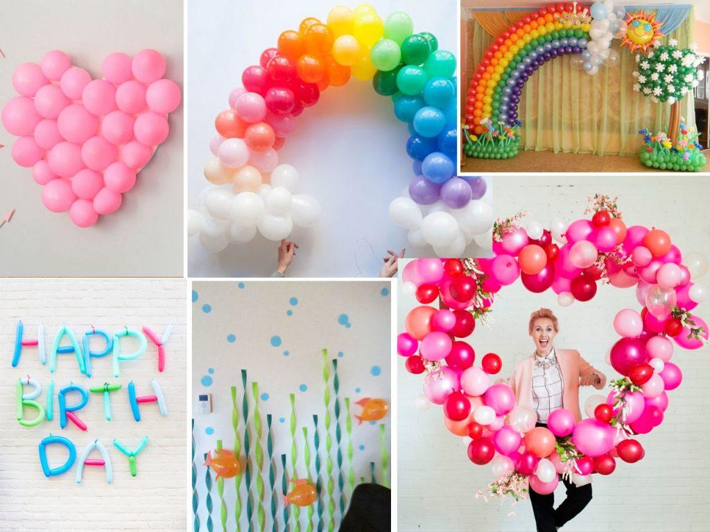 cómo decorar con globos una fiesta