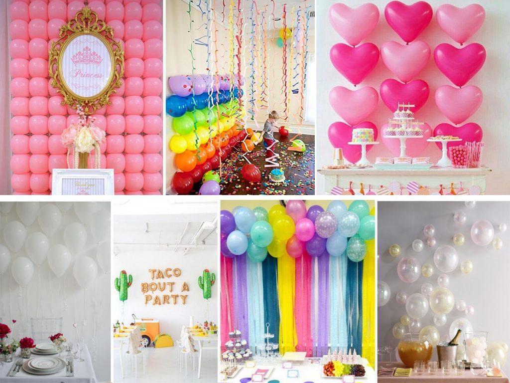 cómo decorar una pared con globos