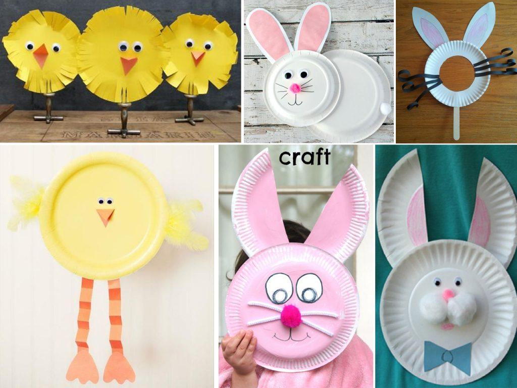 manualidades de Pascua con platos de papel