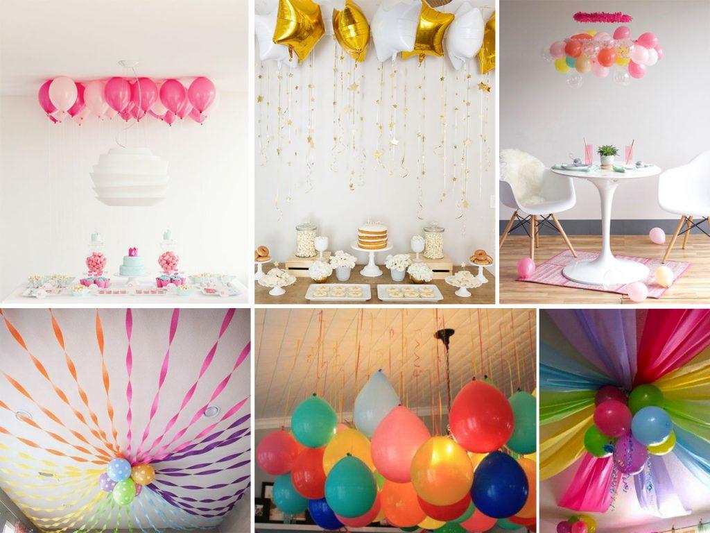 cómo decorar con globos de helio