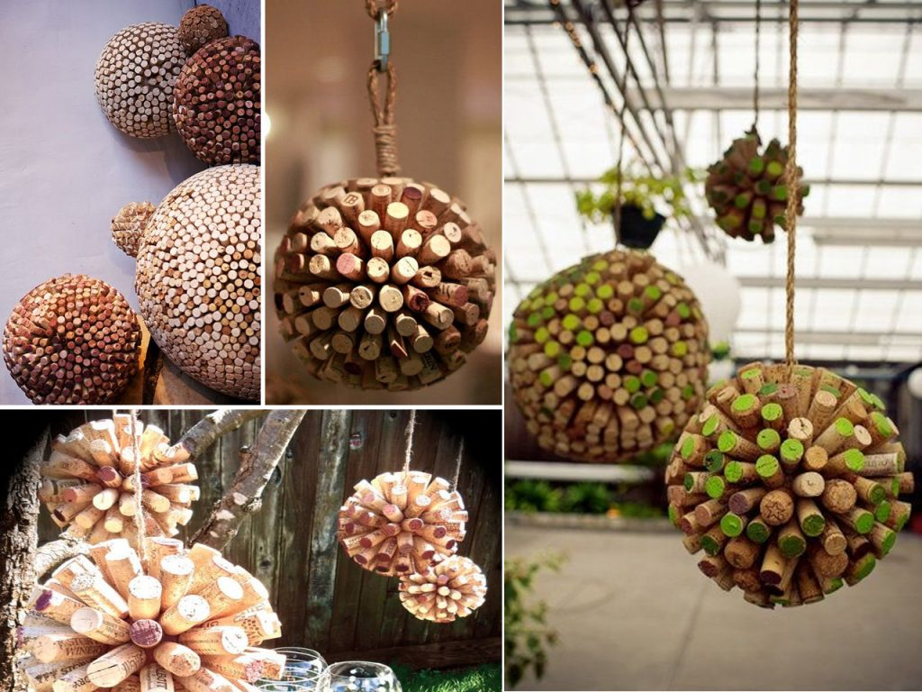 esferas con corchos