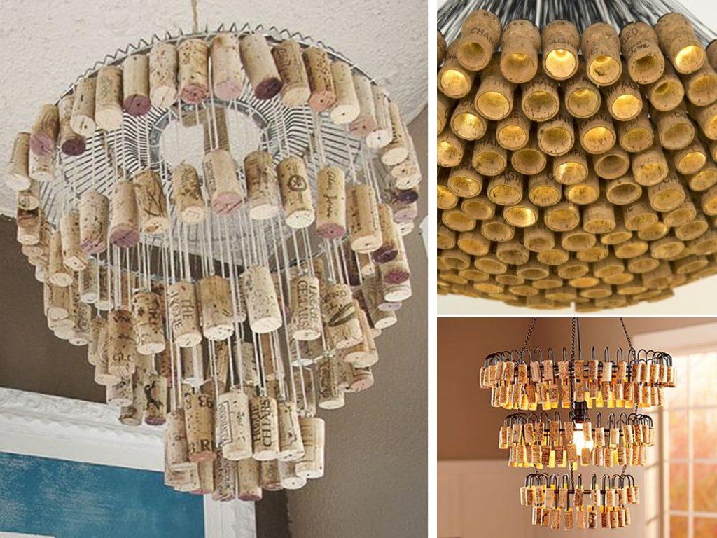 lamparas con tapones de corcho