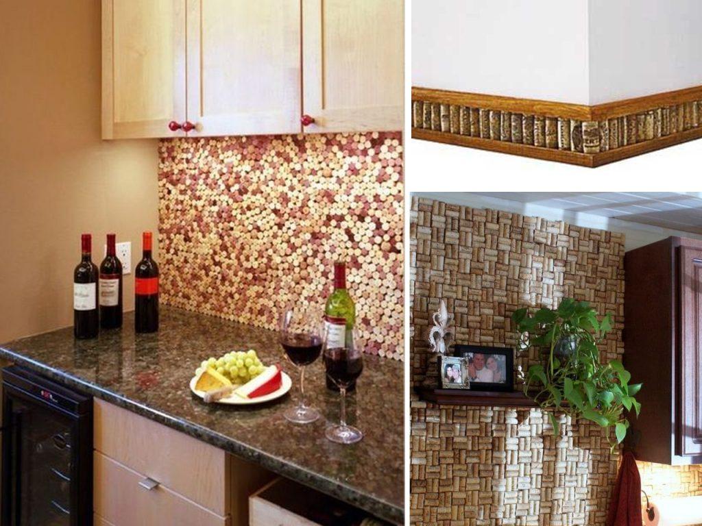 forrar paredes con corchos