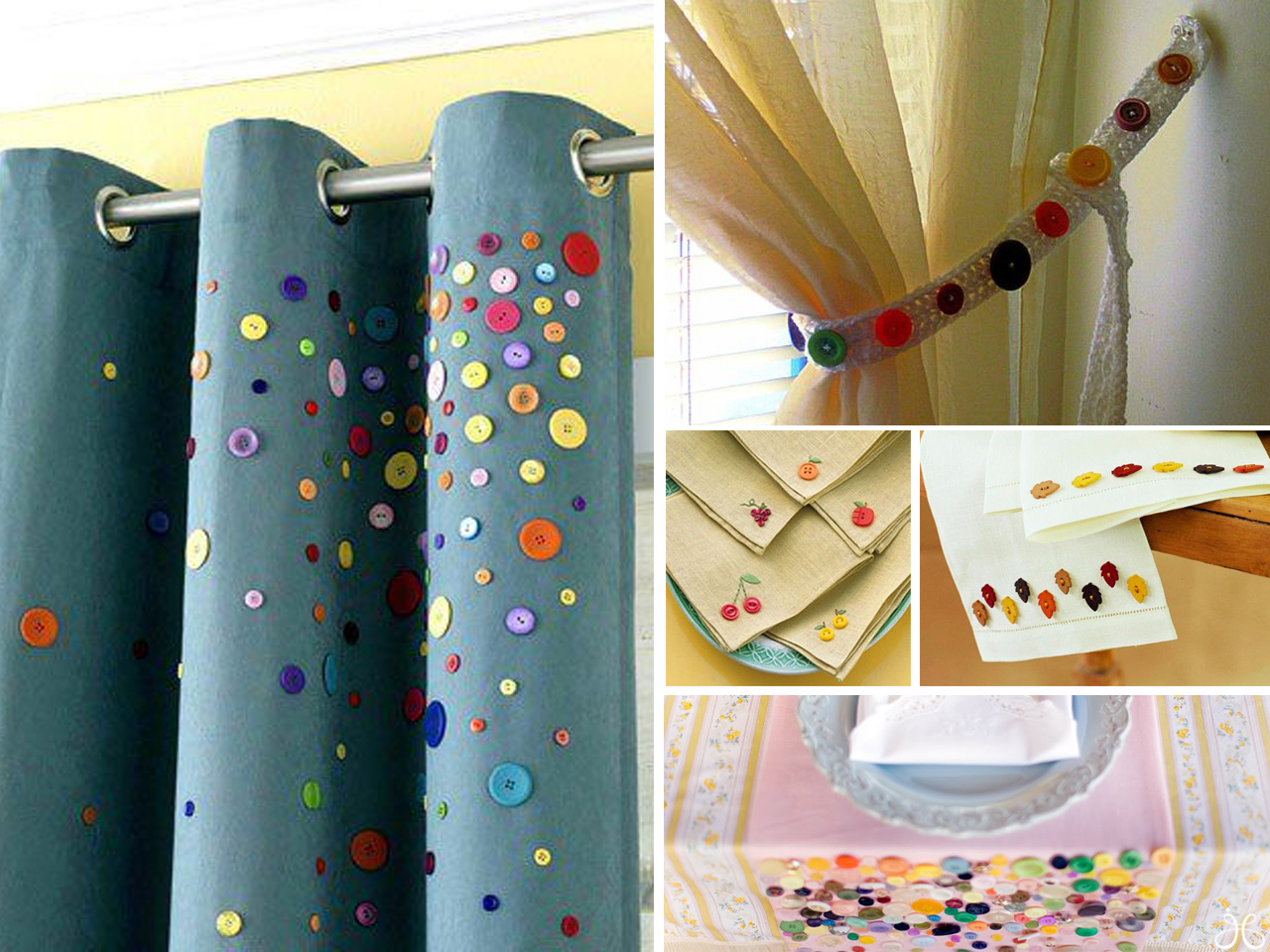 15 originales ideas para la decoraci n con botones - Como decorar con cortinas ...