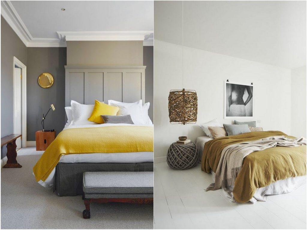 decoración dormitorios 2017 camas de color gris