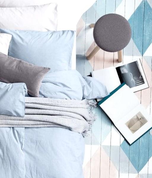 decoración dormitorios 2017 camas de color azul