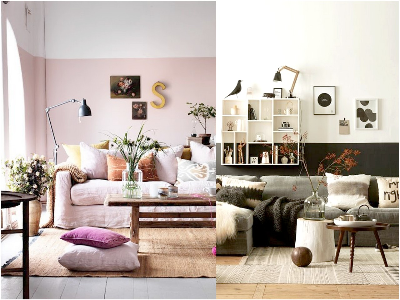 7 ideas para decorar con poco dinero el sal n de tu casa - Decorar pared de salon ...