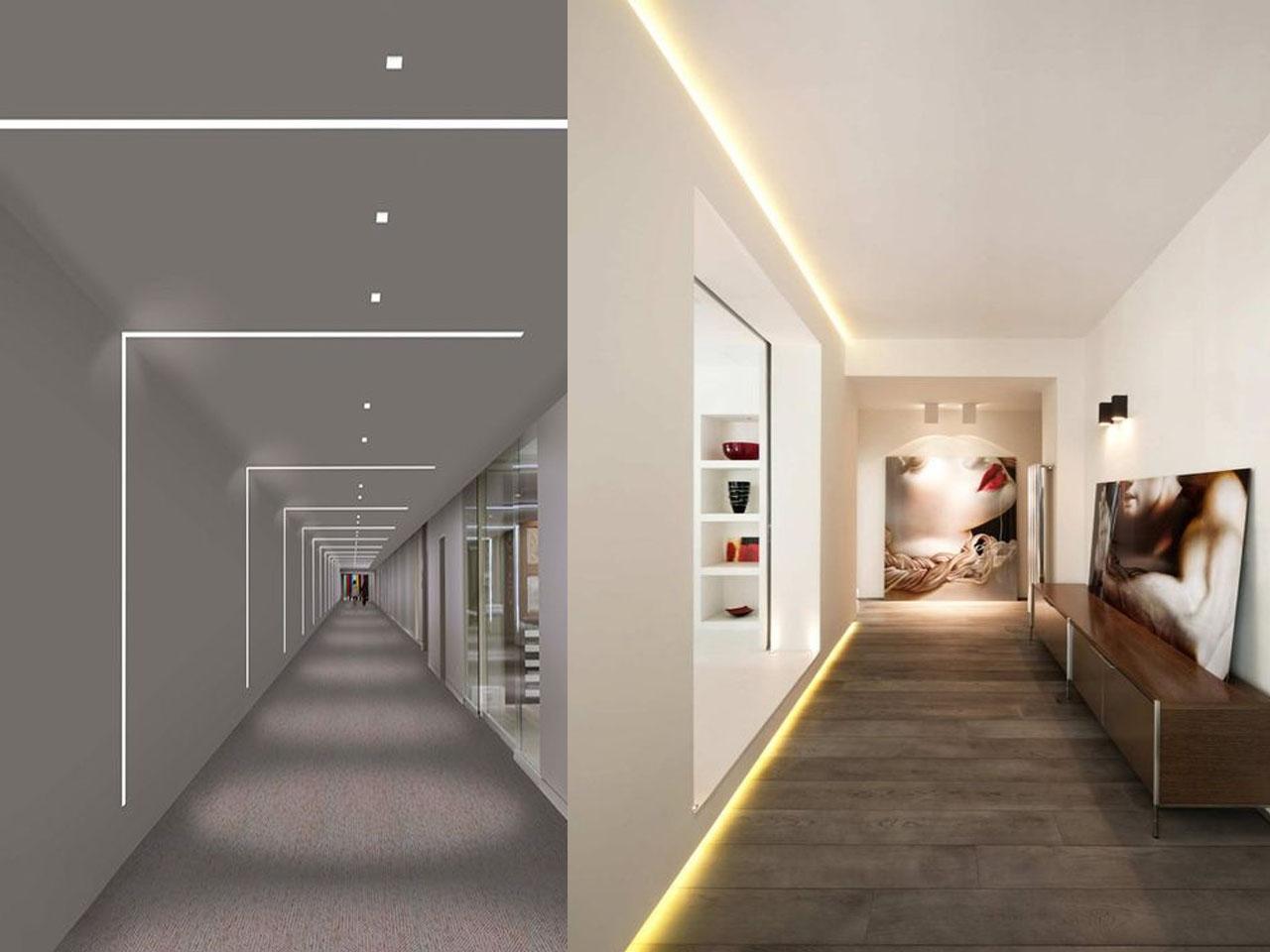 Descubre la decoraci n con luces led y todas sus ventajas - Decoracion de paredes de pasillos ...