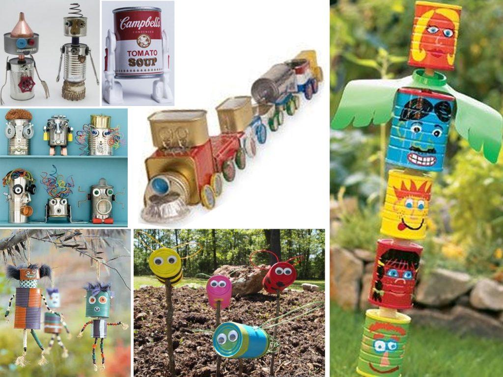 manualidades con latas para niños