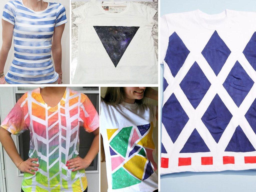 pintar camisetas con spray